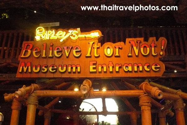 พิพิธภัณฑ์ริปลีย์ believe it or not
